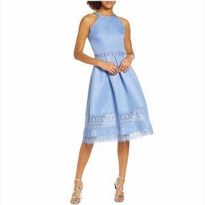 CHI CHI LONDON Naila Midi Lace Cocktail Dress